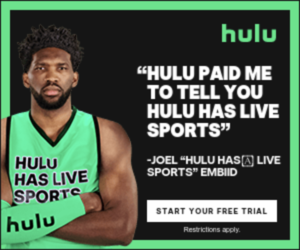 Hulu digital display ad - we have live sports!