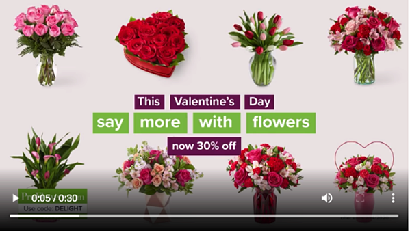 ProFlowers Valentines Day digital ads