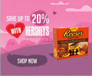 Hershey's Valentine's Day Display Ad