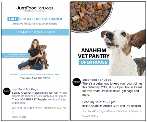 Just Food for Dogs Covid-19 ads