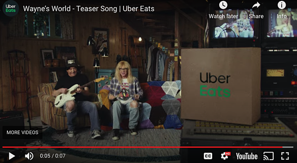 Uber Eats Superbowl Ad