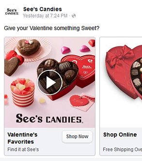 See's Candies Valentines Day Ad